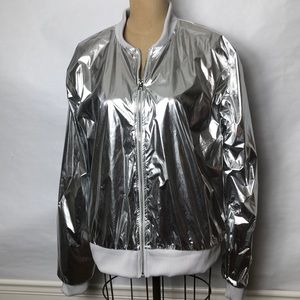 Victoria's Secret Sport silver bomber jacket
